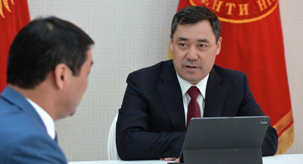 Президент Кыргызской Республики Садыр Жапаров принял председателя Государственной службы финансовой разведки (ГСФР) Канатбека Тургунбекова. 25 марта 2021 года