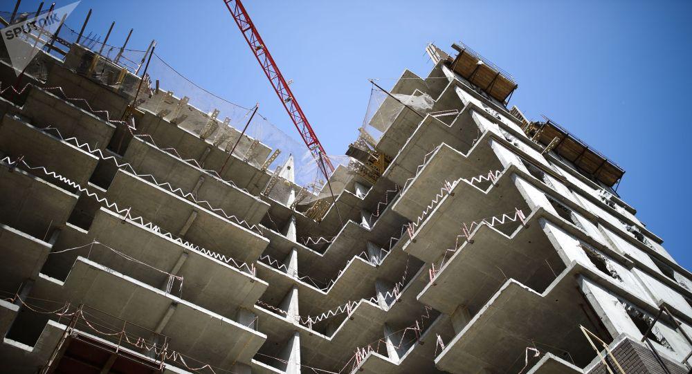 Строительство жилого дома. Архивное фото