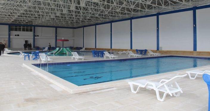 Спортивный комплекс построенный в Баткенском районе, местным предпринимателем