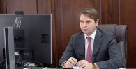 Первый вице-премьер-министр Кыргызской Республики Артем Новиков на заседании Республиканского оперативного штаба