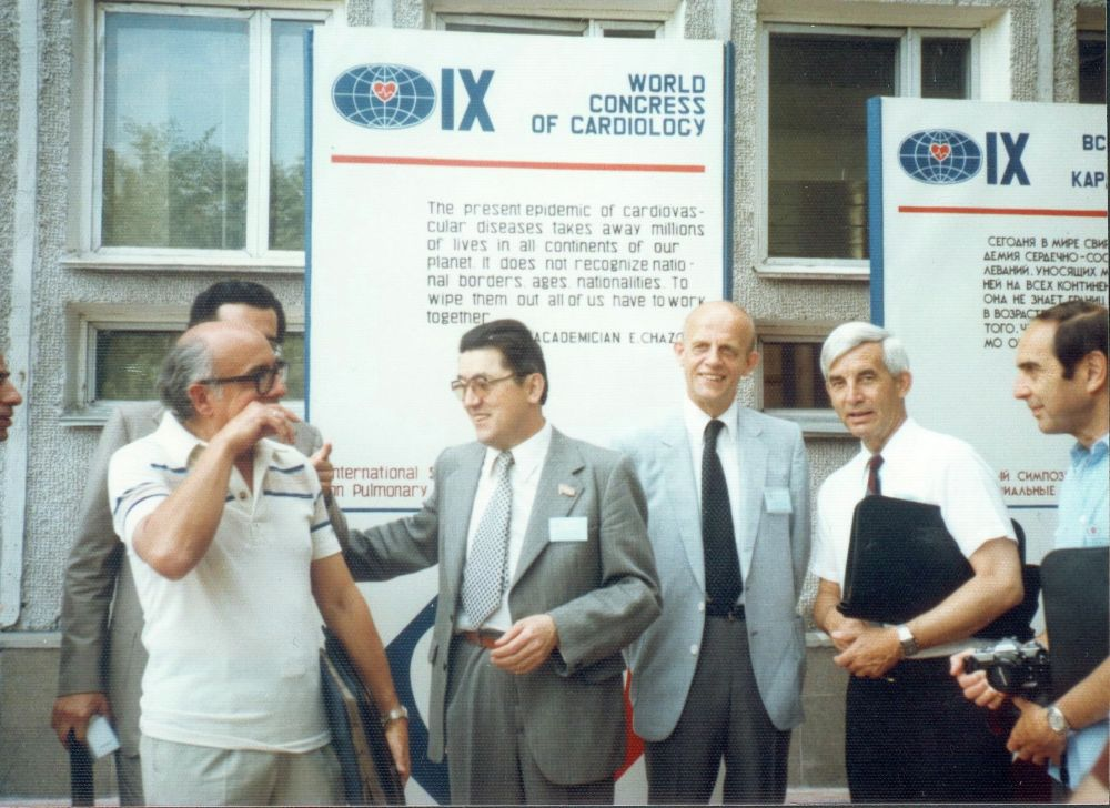 С коллегами на Всемирном конгрессе кардиологов