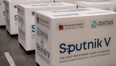 Груз с российской вакциной Sputnik V. Архивное фото