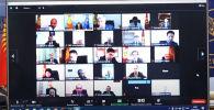 Министр иностранных дел Кыргызстана Руслан Казакбаев провел онлайн-совещание с послами и постоянными представителями республики при международных организациях и консулами.
