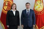 Встреча президента Садыра Жапарова со специальным представителем Генсека ООН Натальей Герман