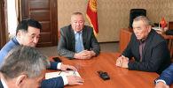 Момент избрания Сайдуллы Нышанова лидером фракции Ата-Мекен.