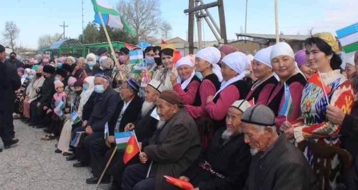 Церемония открытия КПП Кайтпас и Отукчу на границе КР и РУз