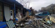 Демонтаж незаконных строений в Бишкеке