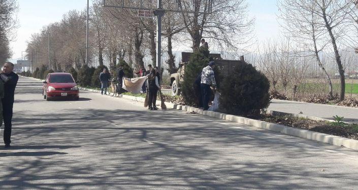 Общегородской субботник в городе Ош