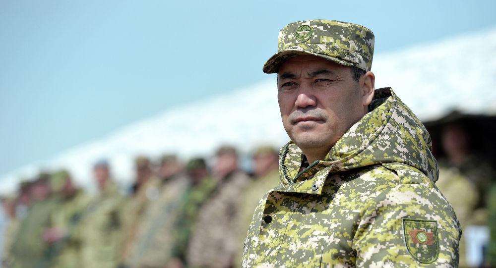 Президент Кыргызстана Садыр Жапаров на командно-штабных и мобилизационных учений в Баткенской области