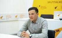 Ультрамарафонец Казбек Мияров в офисе Sputnik Кыргызстан
