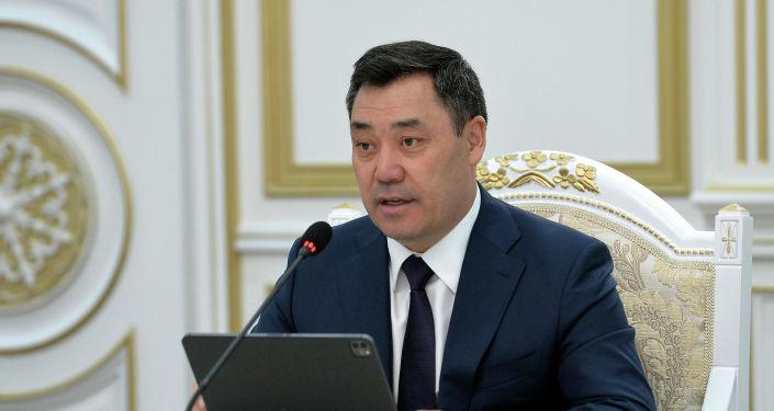 Президент Кыргызской Республики Садыр Жапаров встретился со Спикером Национальной Ассамблеи Республики Корея. 05 апреля 2021 года