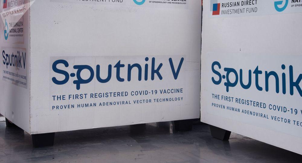 Россиялык вакцина Спутник V менен контейнерлер. Архив