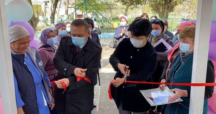 Открытие швейного цеха в селе Благовещенко Сузакского района Джалал-Абадской области