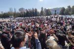 Митинг после похищения и убийства 27-летней девушки