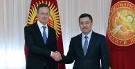 Встреча президента Садыра Жапарова и министра иностранных дел Венгрии