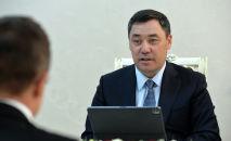 Прездент Кыргызстана Садыр Жапаров. Архивное фото