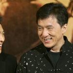 Актеры Джеки Чан и Джет Ли на пресс-конференции фильма Запретное королевство в Гонконге. 18 марта 2008 года  Джеки Чан и Джет Ли сказали, что они так весело провели время, снимая свой первый фильм. фильм вместе они планируют второй.