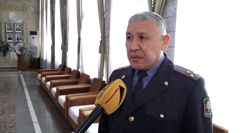 Бишкек шаардык милициясынын жетекчиси Бакыт Матмусаев. Архивдик сүрөт