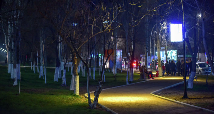 Новый сквер на улице Жукеева-Пудовкина в 8-м микрорайоне Бишкека после благоустройства