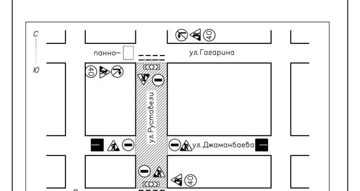 Схема УКС-2 ремонта улиц в Бишкеке за счет гранта КНР