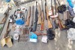 Арсенал незаконно хранящегося оружия и боеприпасов