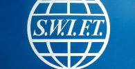 SWIFT банктар аралык байланыштын глобалдык тутумунун логотиби. Архив