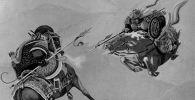 Манас кырк чоросу. Сүрөтчү Г. Петровдун эпоско иллюстрациясы