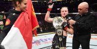 UFC Russia уюмунун YouTube-каналында дивизиондун эң жеңил салмактагы чемпиону Валентина Шевченконун видеосун жарыяланды.