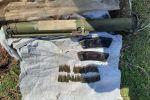 Гранатомет обнаруженный в схроне боеприпасов в Чуйской области