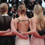 Актрисы Кэти Чанг, Таисса Фармига, Эмма Уотсон и Клер Жюльен(слева направо) перед премьерой фильма Всего 17 (Jeune et Jolie) на 66-ом Каннском кинофестивале.