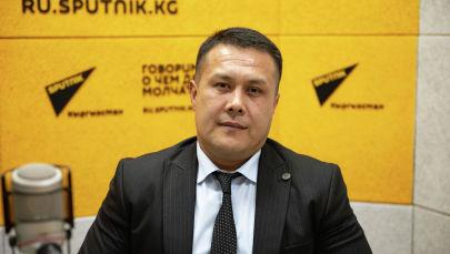 Заведующий отделом регулирования страховой деятельности Финнадзора КР Тимур Зулпукаров на радио Sputnik Кыргызстан
