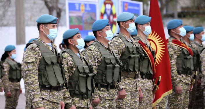 Солдаты кыргызского спецназа во время совместных учений с Кыргызстаном Канжар VII в войсковой части № 10128 в Бишкеке. 16 апреля 2021 года