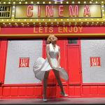 Восковая фигура голливудской актрисы Мэрилин Монро