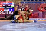 Объединенный мир борьбы представил видео с тремя схватками (четвертьфинал, полуфинал и финал) кыргызстанского спортсмена Эрназара Акматалиева на азиатском лицензионном турнире в Алматы.