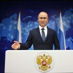 Восковая фигура президента России Владимира Путина