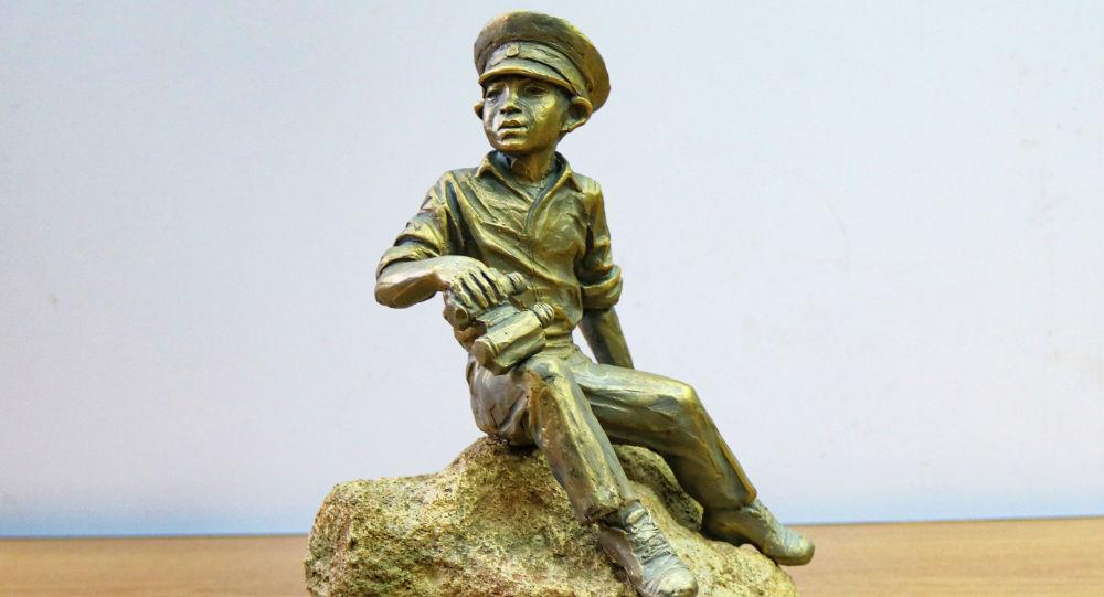 Образец креативной скульптуры в Бишкеке