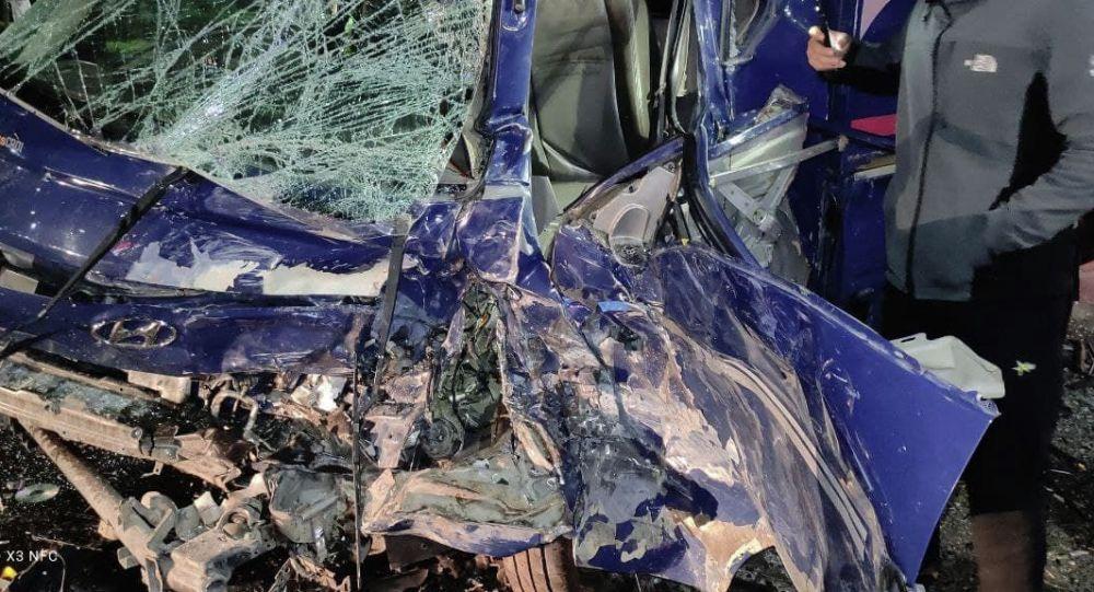 Последствия ДТП с участием четырех авто на проспекте Чингиза Айтматова в Бишкеке
