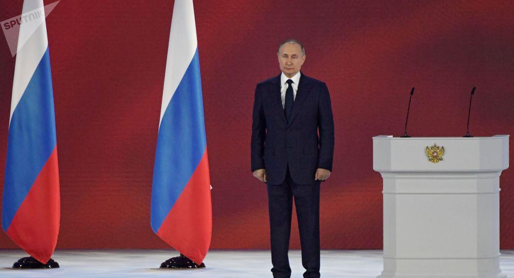 Россия президенти Владимир Путин Федералдык жыйынга жолдогон кайрылуусунда