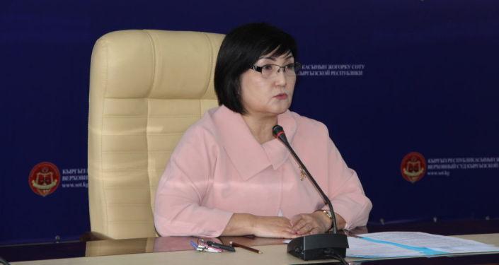Председатель Верховного суда КР Нургуль Бакирова
