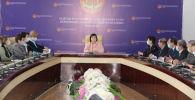 Жогорку соттун төрайымы Нургүл Бакирова жыйын учурунда