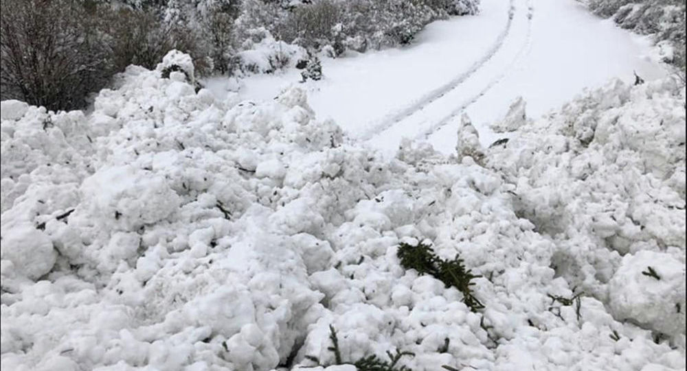 Лавина в Иссык-Кульской области