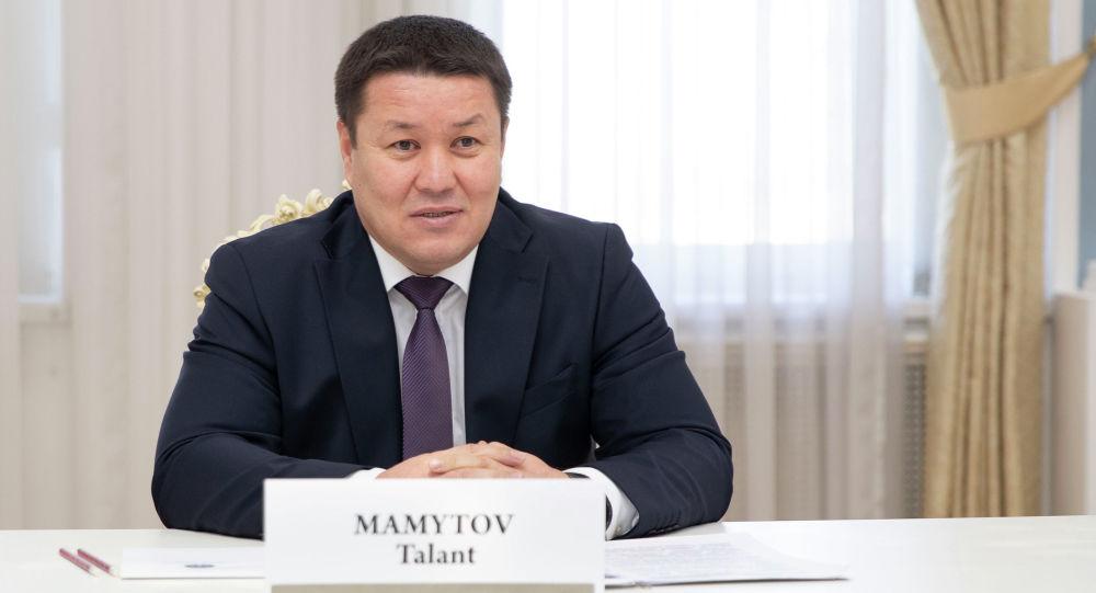 Спикер Жогорку Кенеша Талант Мамытов