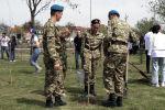 Деревья были посажены в рамках международной акции Сад памяти. В конце марта на кладбище советских воинов Кызыл-Аскер волонтеры Победы также высадили 80 деревьев в память о жертвах ВОВ.