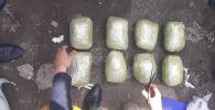 Изъятые 8 кг гашиша в Бишкеке