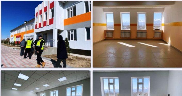 Ход строительства новой школы в селе Бугучу Кочкорского района Нарынской области. 26 апреля 2021 года