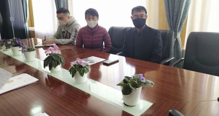 Встреча полномочного представителя Правительства КР в Нарынской области Сабыркул Ашимбаева с координатором JICA  Харагучи Акихисом