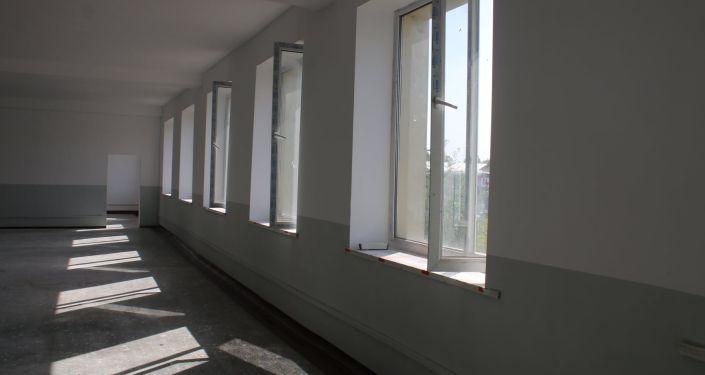 Ремонт в здании нового ЦОНа в Кара-Суйком районе Ошской области