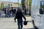 Военнослужащие Кыргызстана на границе с Таджикистаном, где произошел конфликт. 29 апреля 2021 года