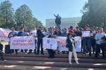 Митинг у дома правительства из-за ситуации на границе с Таджикистаном