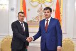 Двусторонняя встреча премьер-министра КР Улукбека Марипова с премьер-министром РТ Кохиром Расулзодой